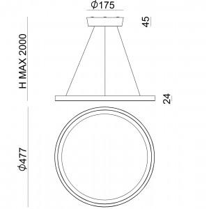 Ma&De - Hinomaru - Hinomaru P SP LED S - Lampadario di design misura S