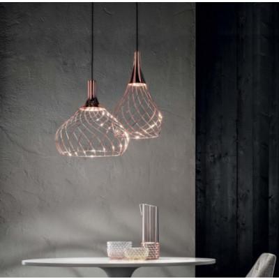 Ma&De - Mongolfier - Mongolfier P1 SP LED - Lampada a sospensione raffinata a LED - Rame -  - Warm Tune - Diffusa