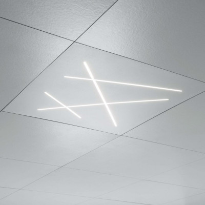 Ma&De - Next - Next - Plafoniera soffitto modular ceiling - Bianco raggrizzante -  - Bianco caldo - 3000 K - Diffusa
