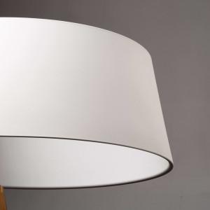 Ma&De - Oxygen - Oxygen FL1 PT LED - Piantana con paralume ad anello a LED - Bianco/Bianco -  - Bianco caldo - 3000 K - Diffusa