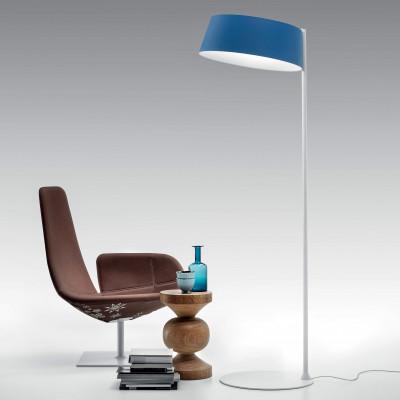 Ma&De - Oxygen - Oxygen FL2 PT LED - Piantana a LED con paralume ad anello colorato e struttura curva