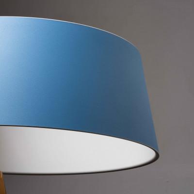 Ma&De - Oxygen - Oxygen FL2 PT LED - Piantana a LED con paralume ad anello colorato e struttura curva - Azzurro/Bianco -  - Bianco caldo - 3000 K - Diffusa