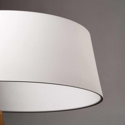 Ma&De - Oxygen - Oxygen FL2 PT LED - Piantana a LED con paralume ad anello colorato e struttura curva - Bianco/Bianco -  - Bianco caldo - 3000 K - Diffusa