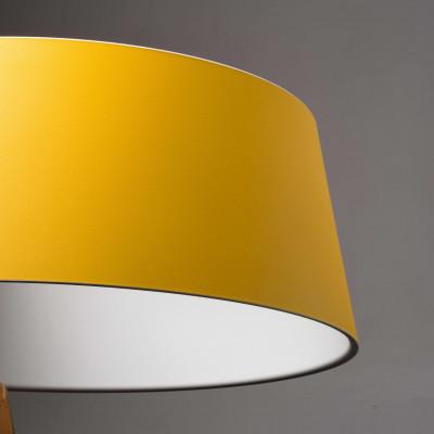 Ma&De - Oxygen - Oxygen FL2 PT LED - Piantana a LED con paralume ad anello colorato e struttura curva - Giallo/Bianco -  - Bianco caldo - 3000 K - Diffusa