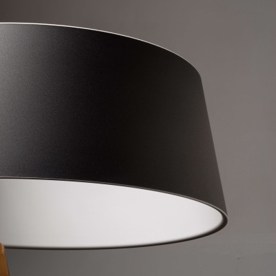 Ma&De - Oxygen - Oxygen FL2 PT LED - Piantana a LED con paralume ad anello colorato e struttura curva - Nero/Bianco -  - Bianco caldo - 3000 K - Diffusa