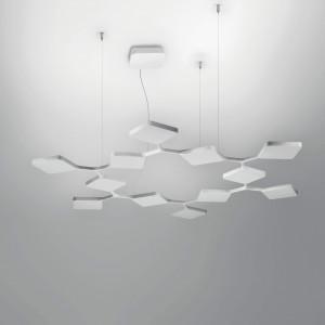 Ma&De - Quad - Quad P3 SP 12 - Lampada sospensione LED a dodici elementi