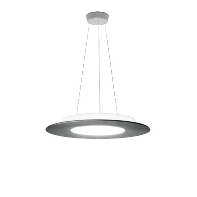 Ma&De - Square LED - Square PR SP LED M - Lampadario rotondo misura M - Cemento -  - Bianco caldo - 3000 K - Diffusa