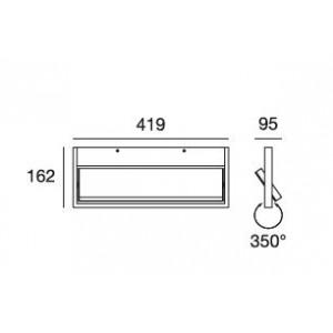 Ma&De - Tablet LED - Tablet LED AP - Lampada a parete orientabile L