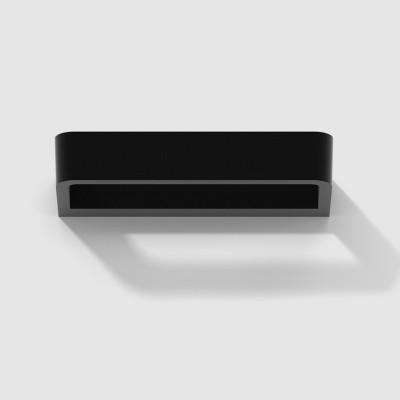 Rotaliana - Belvedere - Belvedere W1 AP - Applique a LED in stile moderno - Nero opaco -  - Bianco caldo - 3000 K - Diffusa