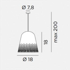 Rotaliana - Capri - Capri H3 SP S - Lampadario moderno misura S