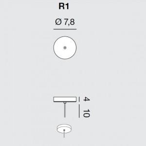 Rotaliana - Furin - Furin R1 - Rosone rotondo per una lampada