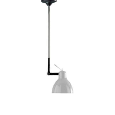 Rotaliana - Luxy - Luxy H1 - Lampadario con snodo - Nero/Bianco - LS-RO-1LXH100101ZR0
