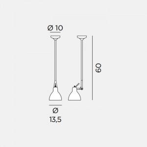 Rotaliana - Luxy - Luxy H1 - Lampadario con snodo
