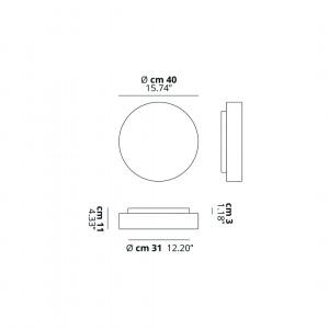 Studio Italia Design - MakeUp - MakeUp L LED AP PL - Applique e plafoniera di design per cucina