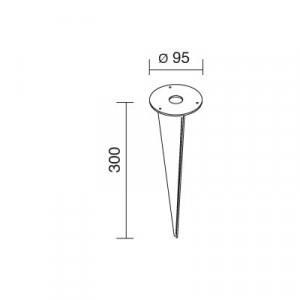 Traddel - Accessori Traddel - Picchetto in acciaio inox con viti di fissaggio 61570