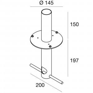 Traddel - Accessori Traddel - Staffa in acciaio inox con viti di fissaggio