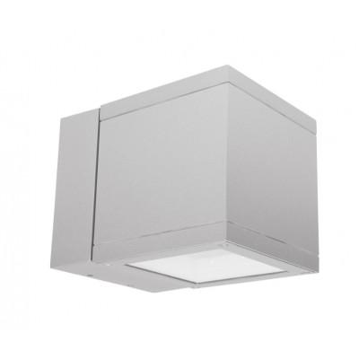 Traddel - Applique a biemissione da esterno - Dual LED - Applique biemissione esterni 60° - Grigio zirconio -  - Bianco caldo - 3000 K - 60°