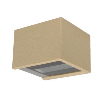 Traddel - Applique a biemissione da esterno - Rock - Applique biemissione di design - Spacco Beige -  - Bianco caldo - 3000 K - 120°