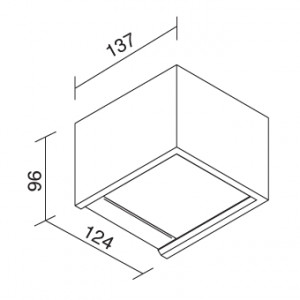 Traddel - Applique a biemissione da esterno - Rock - Applique biemissione di design