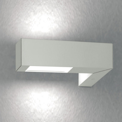 Traddel - Applique a biemissione da esterno - Stalk - Applique a emissione doppia verticale - Grigio alluminio - LS-SK-54795