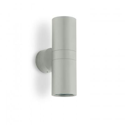 Traddel - Applique a biemissione da esterno - Vision 2 - Applique parete S - Grigio alluminio - LS-LL-51385