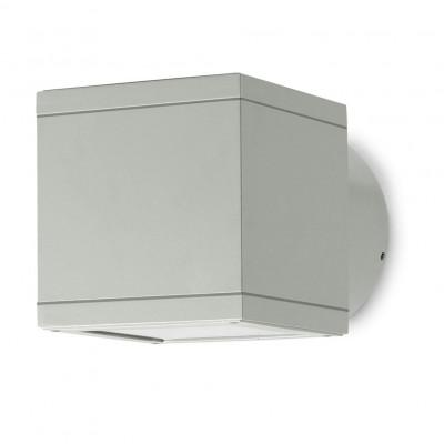 Traddel - Applique da esterno - Dual - Applique da esterni a emissione singola - Grigio alluminio - LS-SK-50595