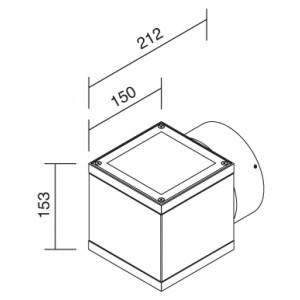 Traddel - Applique da esterno - Dual - Applique da esterni a emissione singola