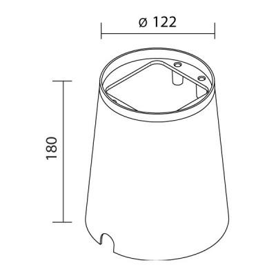 Traddel - Cassaforme e controcasse - Controcassa per lampada Texo - Nessuna - LS-LL-52700