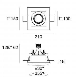Traddel - Faretti a incasso per interni - Gypsum - Faretto incasso ottica orientabile GU5,3