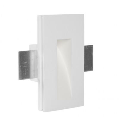 Traddel - Faretti a incasso per interni - Gypsum - Faretto segnapasso S - Gesso -  - Bianco caldo - 3000 K - 70°