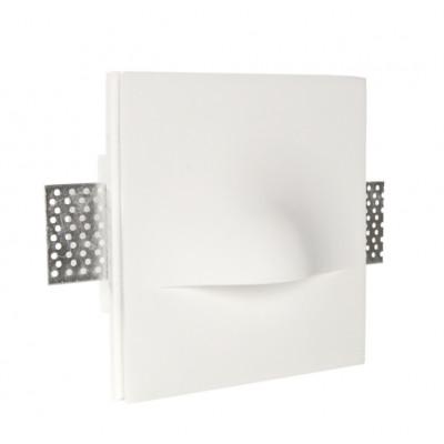 Traddel - Faretti a incasso per interni - Gypsum - Faretto semincasso led - Gesso -  - Bianco caldo - 3000 K - Diffusa