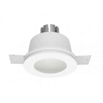 Traddel - Faretti a incasso per interni - Gypsum - Lampada incasso tonda M - Gesso -  - Bianco caldo - 3000 K - 70°