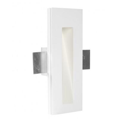 Traddel - Faretti a incasso per interni - Gypsum - Segnapasso M - Gesso -  - Bianco caldo - 3000 K - 70°