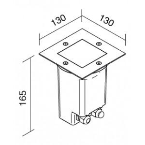 Traddel - Faretti Traddel - Texo 2 - Faretto quadrato orientabile