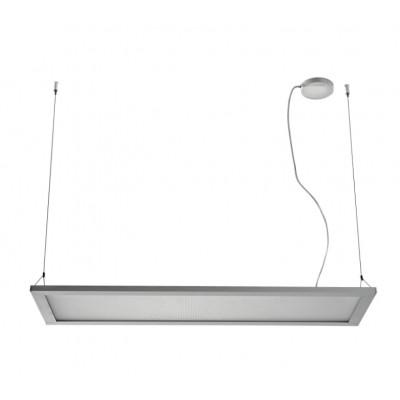 Traddel - Lampada a sospensione - Matrix LED - Lampada a sospensione PMMA - Grigio zirconio -  - Bianco naturale - 4000 K - Diffusa
