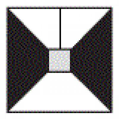 Traddel - Lampada a sospensione - Profil H - Sospensione quadrata