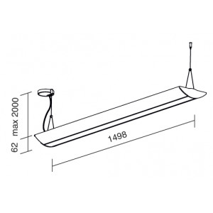 Traddel - Lampada a sospensione - Reverse Up - Lampada sospensione diffusore opale
