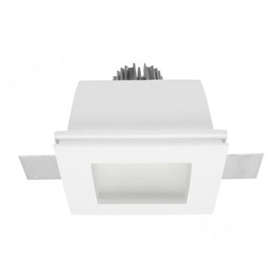 Traddel - Lampade a incasso a parete o soffitto - Gypsum - Lampada incasso quadrata - Gesso -  - Bianco caldo - 3000 K - 70°