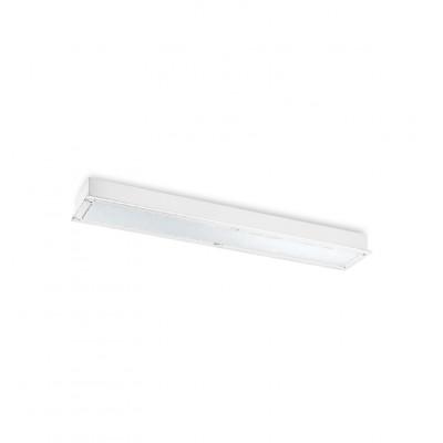 Traddel - Lampade a incasso a parete o soffitto - Millennium M - Plafoniera incasso rettangolare - Bianco RAL 9010 - LS-SK-52044