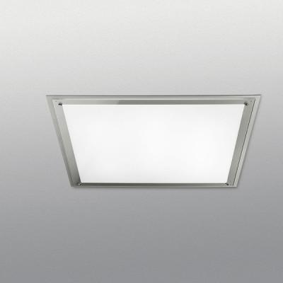 Traddel - Lampade a incasso a parete o soffitto - Millennium - Plafoniera quadrata 3 luci - Grigio metallizzato - LS-SK-52375