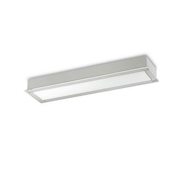 Traddel - Lampade a incasso a parete o soffitto - Millennium S - Plafoniera incasso rettangolare - Grigio metallizzato - LS-SK-52085