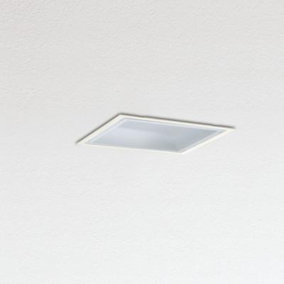 Traddel - Lampade a incasso a parete o soffitto - Oblò - Plafoniera da incasso diffusore policarbonato - Bianco RAL 9010 - LS-SK-54544
