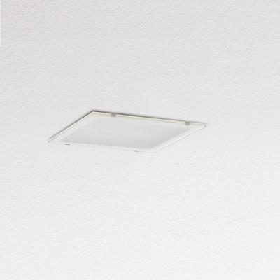 Traddel - Lampade a incasso a parete o soffitto - Oblò - Plafoniera da incasso diffusore vetro serigrafato - Bianco RAL 9010 - LS-SK-54574