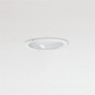 Traddel - Lampade a incasso a parete o soffitto - Oblò - Plafoniera da incasso rotonda diffusore vetro serigrafato - Bianco RAL 9010 - LS-SK-54394