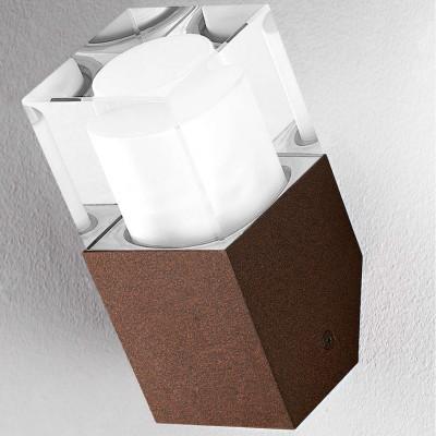 Traddel - Lampade a parete o soffitto per esterni - I-Cube - Lampada parete o soffitto - Corten -  - Bianco caldo - 3000 K - Diffusa