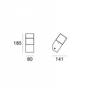 Traddel - Lampade a parete o soffitto per esterni - I-Cube - Lampada parete o soffitto