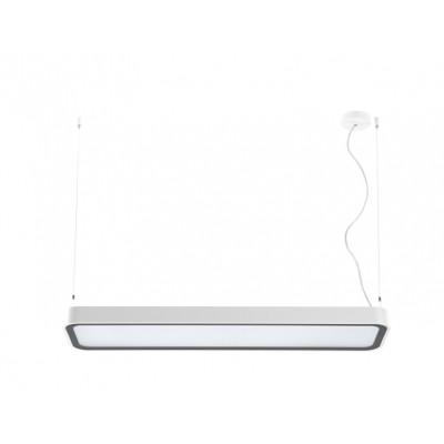 Traddel - Neox - Lampade illuminazione ufficio - Neox Led - Lampada a sospensione ufficio - Bianco goffrato -  - Bianco naturale - 4000 K - Diffusa
