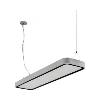 Traddel - Neox - Lampade illuminazione ufficio - Neox Led - Lampada a sospensione ufficio - Grigio goffrato -  - Bianco naturale - 4000 K - Diffusa