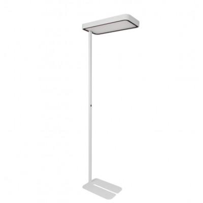 Traddel - Neox - Lampade illuminazione ufficio - Neox Led - Piantana Light Sensor - Bianco goffrato -  - Bianco naturale - 4000 K - Diffusa
