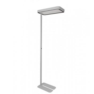 Traddel - Neox - Lampade illuminazione ufficio - Neox Led - Piantana ufficio - Grigio goffrato -  - Bianco naturale - 4000 K - Diffusa